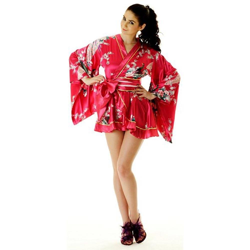 67c972dc252 Pink Yukata Mini Dress Kimono Dresses ...