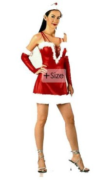 Plus Size Santa Dress Christmas Dresses