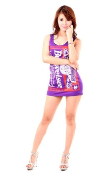 Purple Budweiser Dress Short Dresses