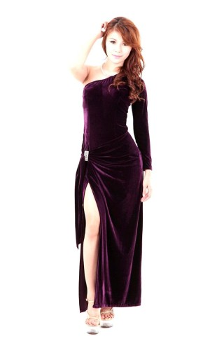 Purple Evening Dress Long Dresses