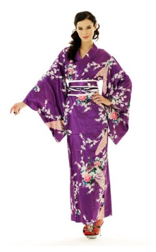 Purple Kimono Dress Kimono Dresses
