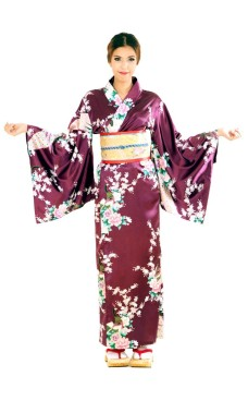 Purple Yukata Dress Kimono Dresses