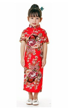 Red Chinese Kids Dress Children's Oriental Dresses