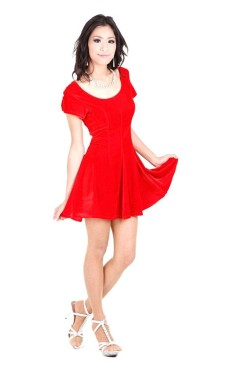 Red Short Sleeve Dress Short Dresses