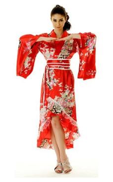 Red Yukata Dress Kimono Dresses