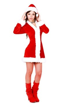 Santa Claus Coat Christmas Dresses