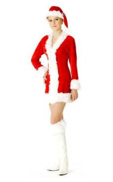 Santa Claus Costume Christmas Dresses