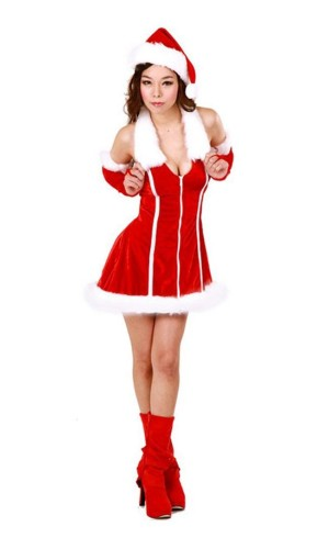 Santa Dress Costume Christmas Dresses