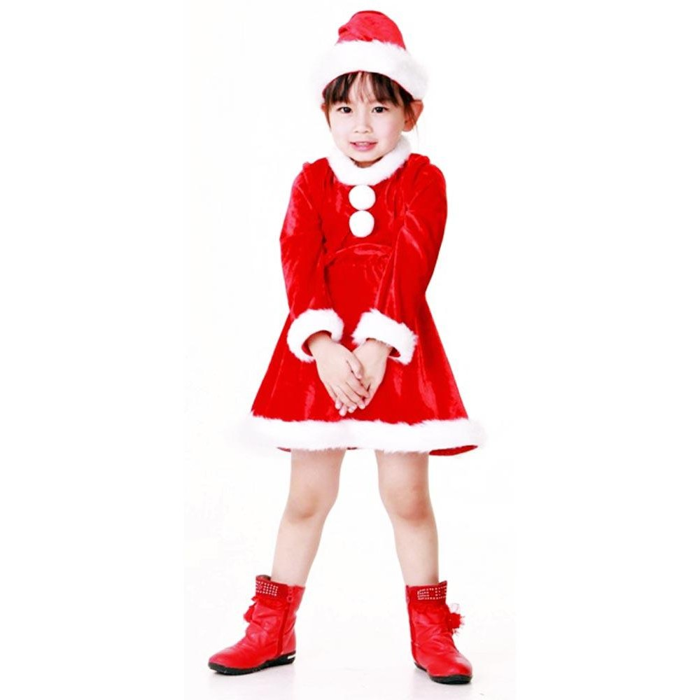 acb3797b332e Santa Girl Kids Costume - Children's Christmas Costumes