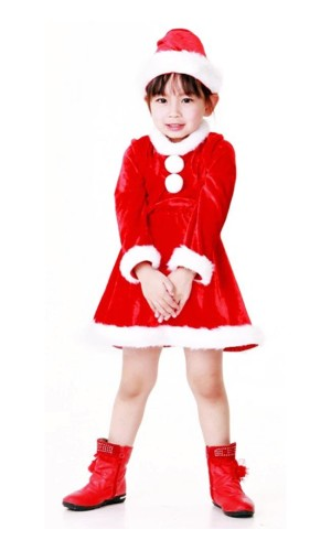 Santa Girl Kids Costume Children's Christmas Costumes