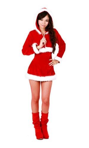 Santa Hooded Costume Christmas Dresses