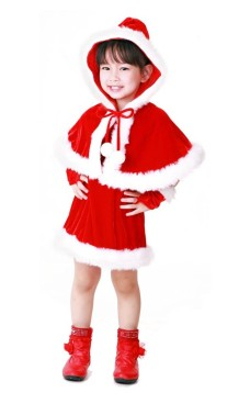 Santa Hooded Kids Costume Children's Christmas Costumes