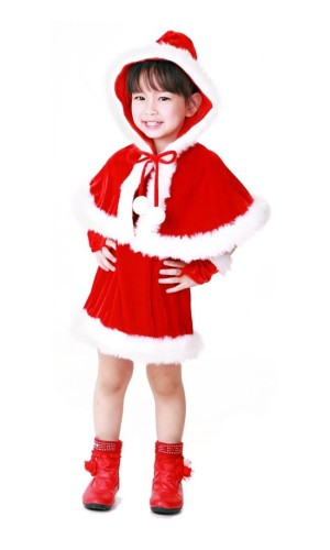 Santa Hooded Kids Costume Children's Christmas Costumes