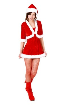 Santa Jacket Dress Christmas Dresses
