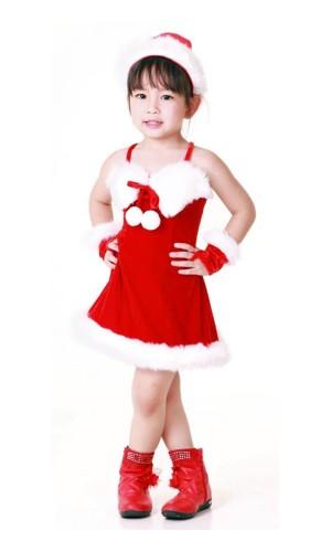 Santa Kids Dress Children's Christmas Costumes