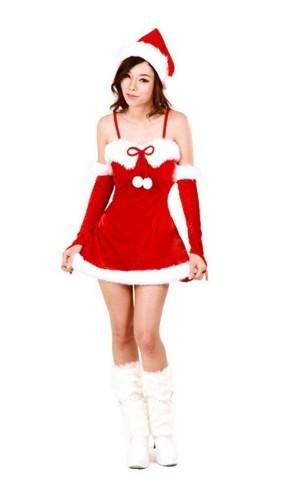 Santa Mini Dress Christmas Dresses