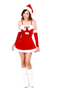 Santa Mini Dress Christmas Dresses