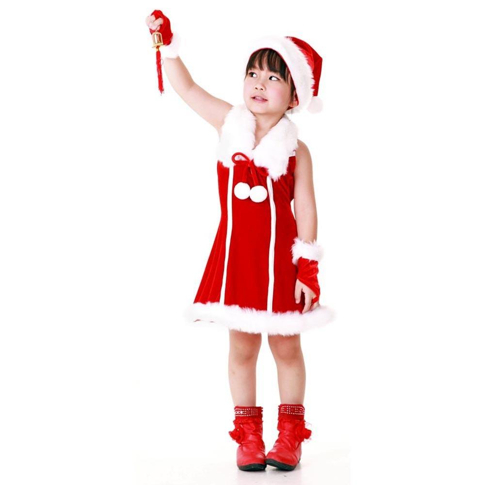 Santa princess kids dress children s christmas costumes