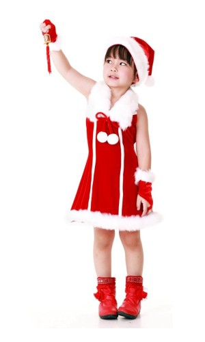 Santa Princess Kids Dress Children's Christmas Costumes