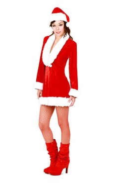 Santa Queen Costume Christmas Dresses