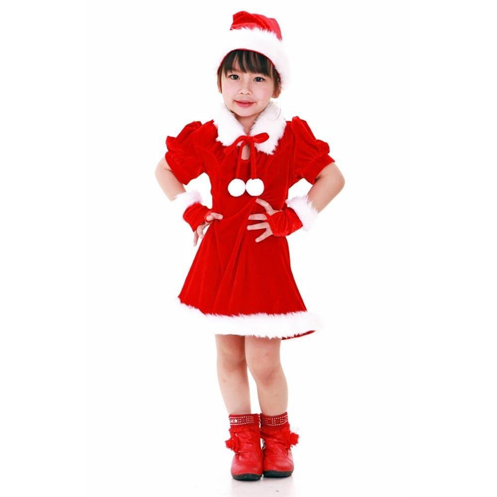 32c8ad80101e Santa's Helper Kids Dress - Children's Christmas Costumes