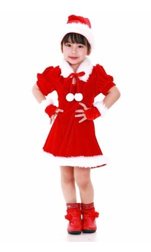 Santa's Helper Kids Dress Children's Christmas Costumes
