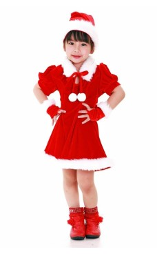 Santa's Helper Kids Dress Children's Christmas Costumes