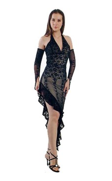 Sexy Black Lace Dress Long Dresses