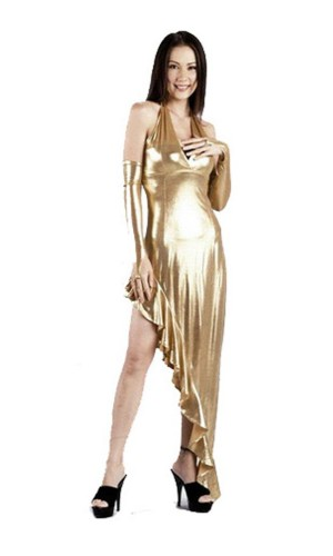Sexy Gold Dress Long Dresses