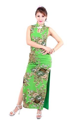 Sexy Green Cheongsam Asian Dresses