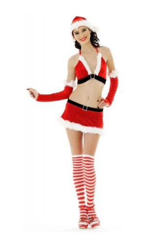 Sexy Santa Girl Skirt Set Christmas Dresses
