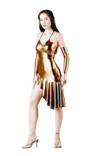 Sexy Short Gold Dress Short Dresses