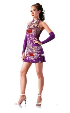 Sexy Short Purple Cheongsam Asian Dresses