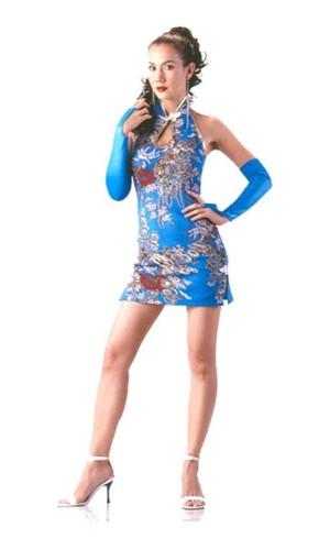Sexy Short Turquoise Cheongsam Asian Dresses
