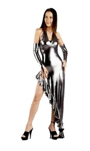 Sexy Silver Dress Long Dresses