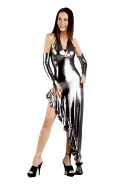 Sexy Silver Dress Long Dresses