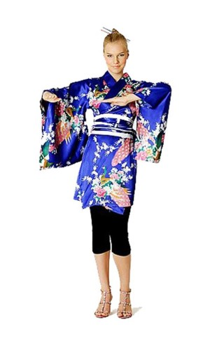 Short Blue Kimono Dress Kimono Dresses