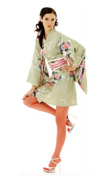 Short Green Kimono Dress