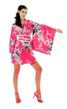 Short Pink Kimono Dress