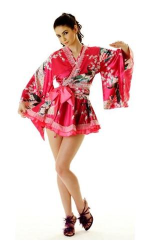 Short Pink Yukata Dress Kimono Dresses
