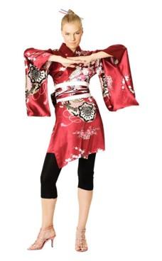 Short Red Kimono Dress Kimono Dresses