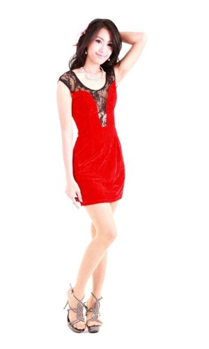Short Red Lace Dress Short Dresses