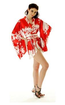 Short Red Yukata Dress Kimono Dresses