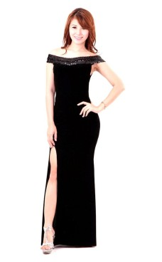 Shoulderless Evening Dress Long Dresses