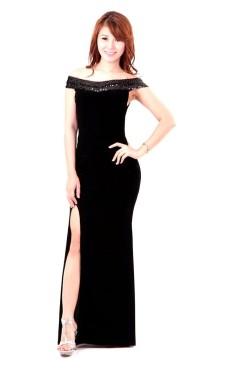 Shoulderless Evening Dress