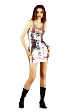 Silver Budweiser Dress Short Dresses