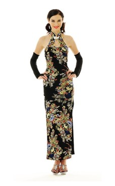Sophisticated Black Cheongsam Asian Dresses