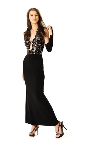 Stylish Black Dress Long Dresses