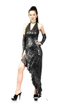 Stylish Black Salsa Dress Long Dresses