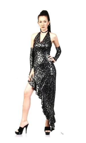 Stylish Black Salsa Dress Long Dresses